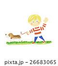 犬 散歩 ペットのイラスト 26683065
