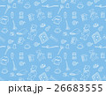 手芸用品のパターン(背景ブルー) 26683555