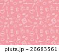 手芸用品のパターン(背景ピンク) 26683561