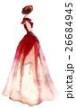 Watercolor fashion illustration. Women 26684945