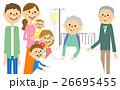 人物 高齢者 入院のイラスト 26695455