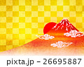 富士山 日の出 年賀状 背景  26695887