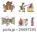 火の用心 火災 火のイラスト 26697293