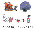 火の用心 火 火災のイラスト 26697471