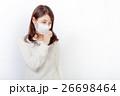 マスクをした女性 26698464