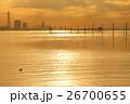 江川海岸の夕方の光と海の風景 26700655