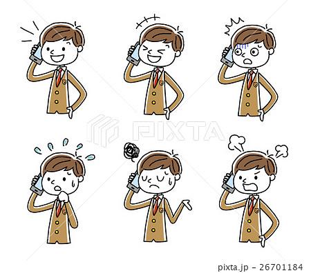 電話:男子学生、セット、バリエーション 26701184