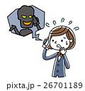 ベクター 電話 中学生のイラスト 26701189