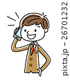 ベクター 電話 スマートフォンのイラスト 26701232