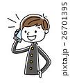 ベクター 電話 スマートフォンのイラスト 26701395