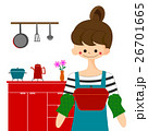 キッチンで料理をする女性 26701665