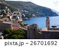 ドブロヴニクのアドリア海の青い海 26701692