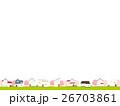 春 街 桜のイラスト 26703861