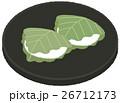 和菓子 お菓子 柏餅のイラスト 26712173