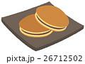 和菓子 甘味 お菓子のイラスト 26712502