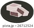 和菓子 甘味 お菓子のイラスト 26712524