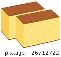 甘味 お菓子 カステラのイラスト 26712722