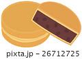 和菓子 お菓子 あんこのイラスト 26712725