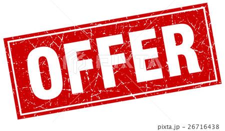 offer square stampのイラスト素材 [26716438] - PIXTA