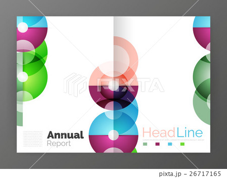 Transparent circle composition on business annualのイラスト素材 [26717165] - PIXTA