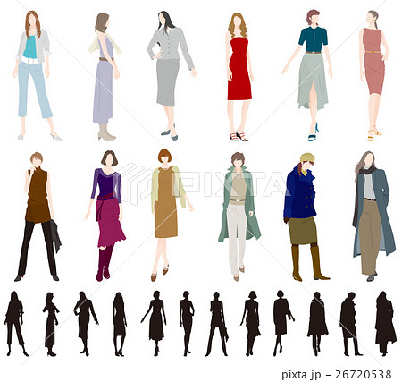 女性のファッションのイラスト素材 26720538 Pixta