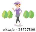 女性 ウォーキング 運動のイラスト 26727309