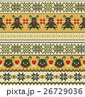 ウサギ ノルディック柄 模様編みのイラスト 26729036