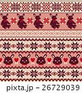 ウサギ ノルディック柄, 26729039