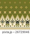 ウサギ ノルディック柄 模様編みのイラスト 26729046