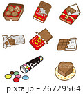 チョコレート チョコ お菓子のイラスト 26729564