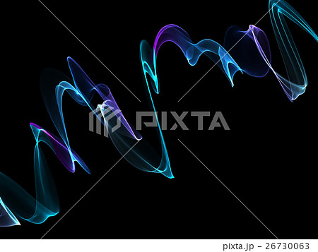 abstract colorful twisted net web wavesのイラスト素材 [26730063] - PIXTA