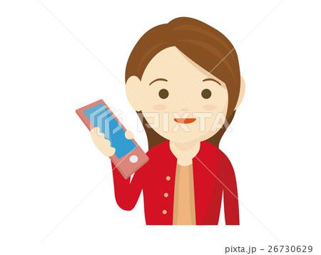 携帯電話を持つ女性のイラスト 26730629
