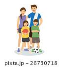 ファミリー 家庭 家族のイラスト 26730718
