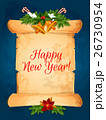 Happy New Year wishes with scroll 26730954