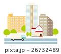 街並み 街 風景のイラスト 26732489