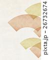 和柄 扇 背景のイラスト 26732674