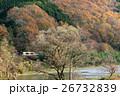 山間部 紅葉 久慈川の写真 26732839