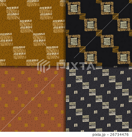 Ethnic seamless pattern setのイラスト素材 [26734476] - PIXTA