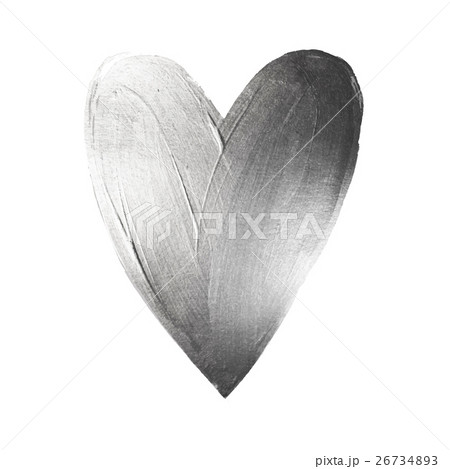 Vector Foil Paint Heart on White Background. Loveのイラスト素材 [26734893] - PIXTA