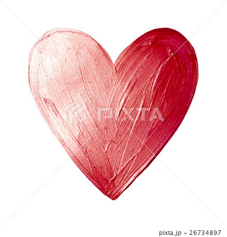 Vector Foil Paint Heart on White Background. Loveのイラスト素材 [26734897] - PIXTA