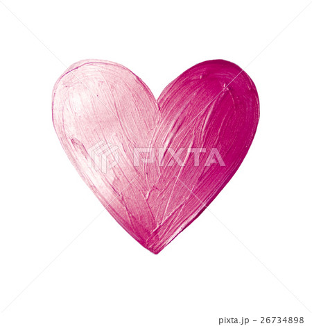 Vector Foil Paint Heart on White Background. Loveのイラスト素材 [26734898] - PIXTA