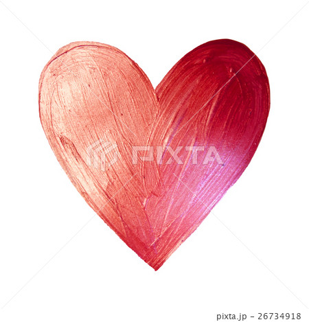 Vector Foil Paint Heart on White Background. Loveのイラスト素材 [26734918] - PIXTA