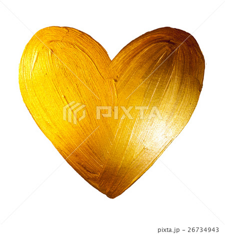 Vector Foil Paint Heart on White Background. Loveのイラスト素材 [26734943] - PIXTA