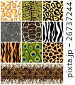 Set seamless patterns animals. Vector 26737244