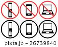 携帯電話 スマートフォン マークのイラスト 26739840