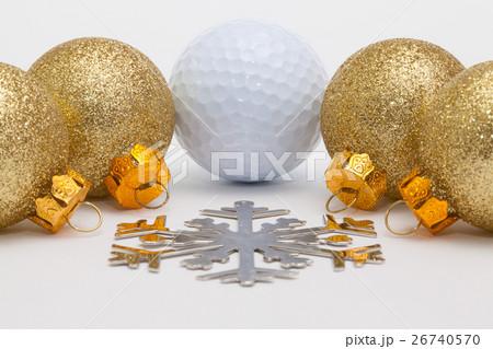 Golf ball and Christmas decorationの写真素材 [26740570] - PIXTA