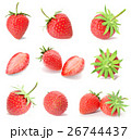 3d rendering a set, collection of fresh strawberry 26744437