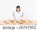 白衣の女性(料理) 26747952