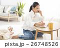 赤ちゃん 親子 ワーキングマザーの写真 26748526