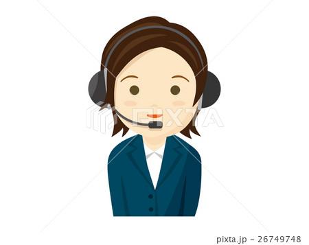 コールセンターの女性のイラスト 26749748